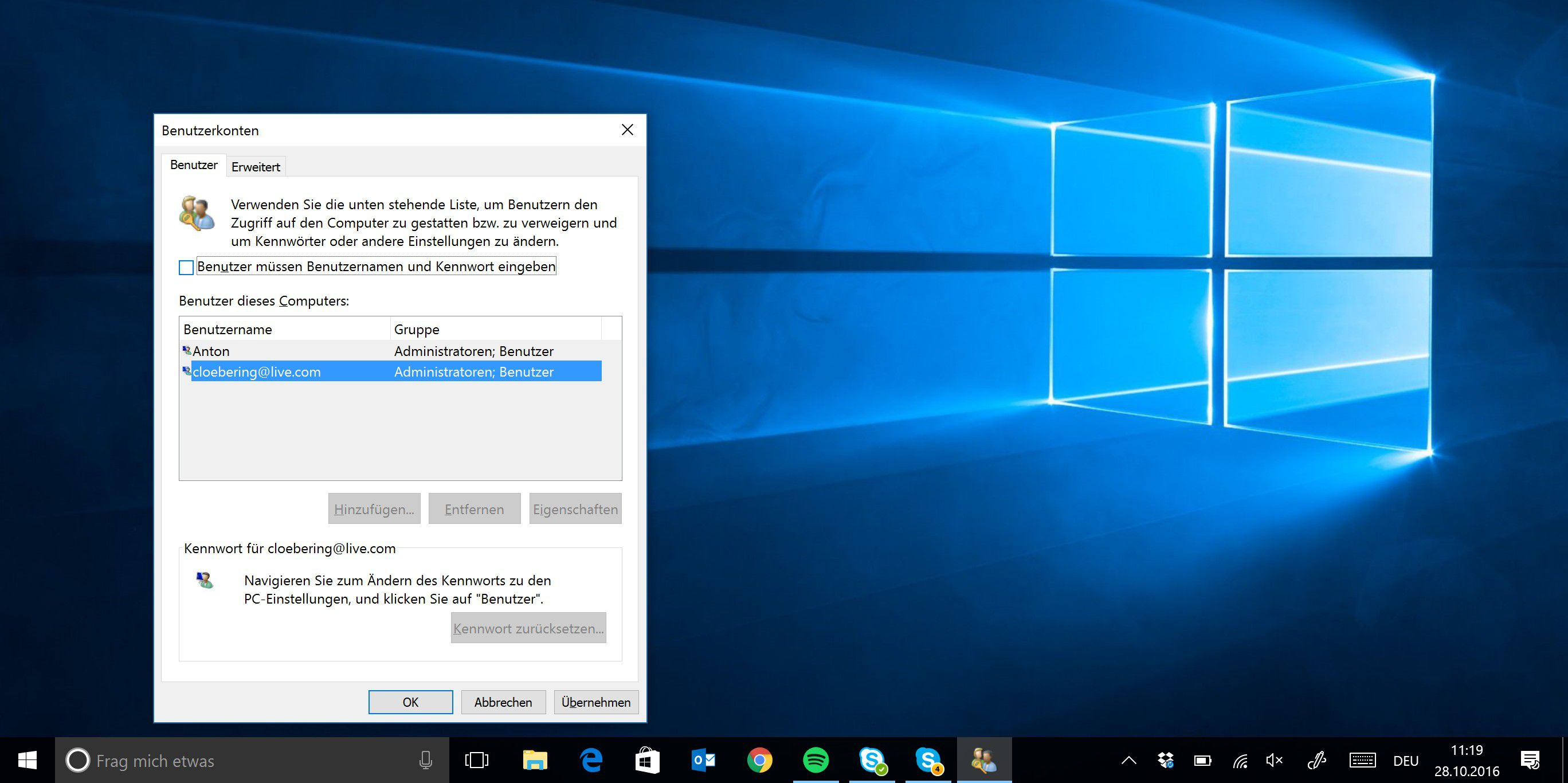 Windows 10 desktop hintergrund andern sperren