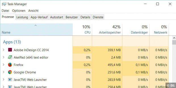 Der Task-Manager von Windows 10: Prozesse optimal ... on
