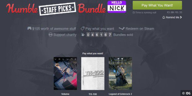 Neues Humble Bundle lockt Gamer