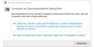 RAM testen mit Windows-Bordmitteln