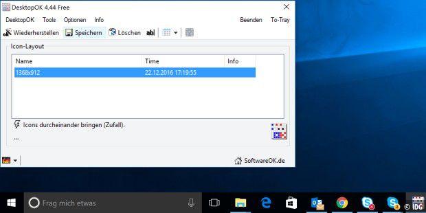 Positionen von Desktop-Icons speichern - PC-WELT