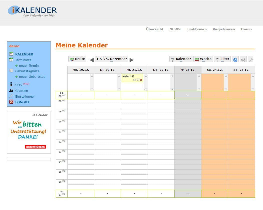 bester online kalender