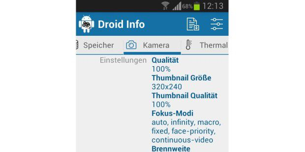 Droid Hardware Info