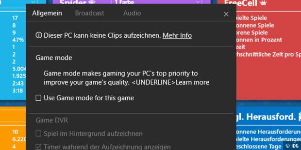 Windows 10 erhält den neuen Game Mode