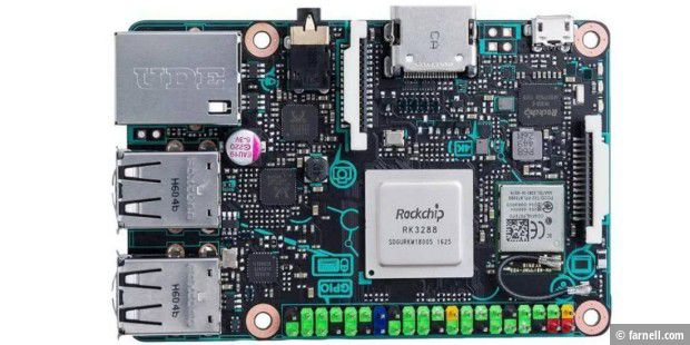 Asus Tinker Board: Raspberry-Konkurrent mit 4K-Video