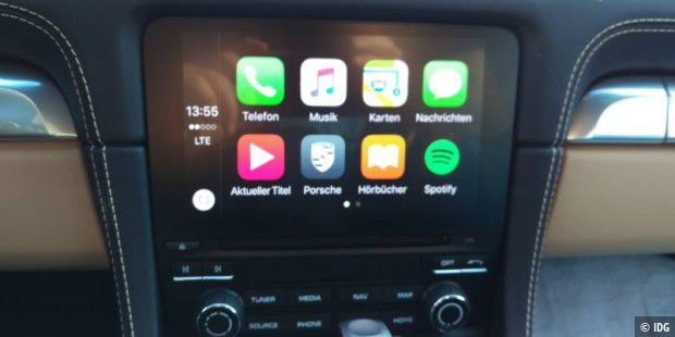 Home Screen von Carplay auf dem PCM