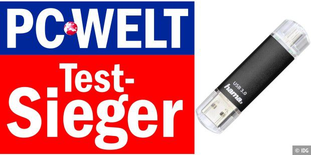 Test-Sieger: Hama FlashPen Laeta Twin 32GB USB 3.0