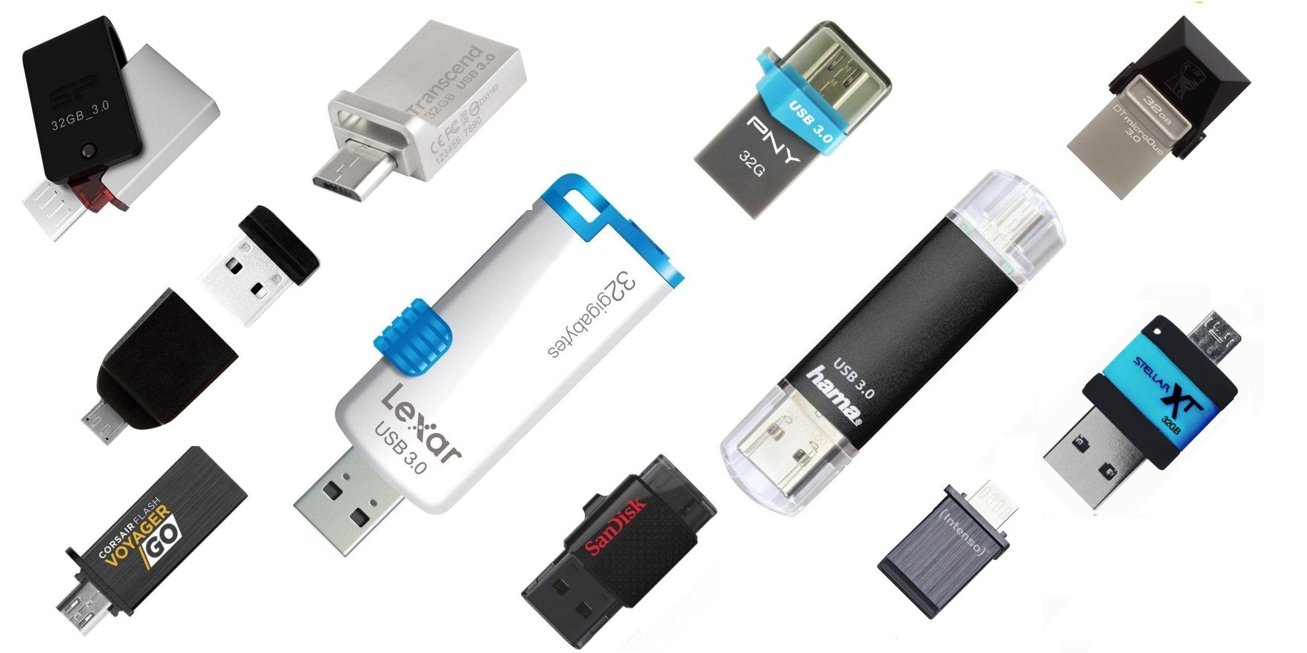 Usb On The Go Otg Sticks Mit 32 Gb Im Test Pc Welt Flashdisk Sandisk Vergrern Gigabyte