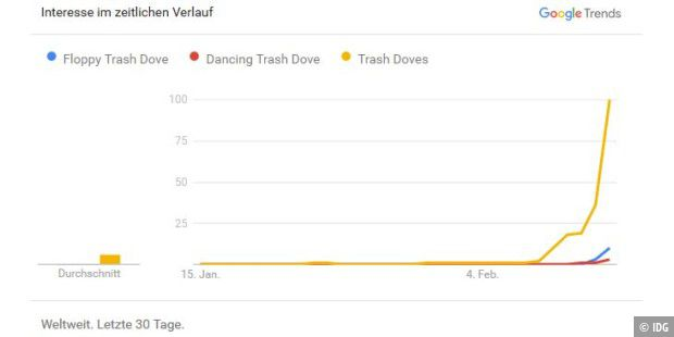 Trash Doves auf Google Trends
