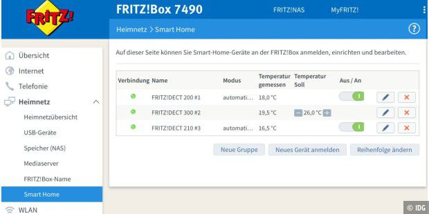 avm fritz dect 301 300 im test heizthermostat steigert komfort pc welt. Black Bedroom Furniture Sets. Home Design Ideas
