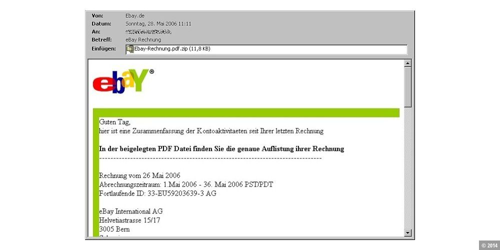 Falsche Ebay Rechnungen Mit Trojanischem Pferd Pc Welt