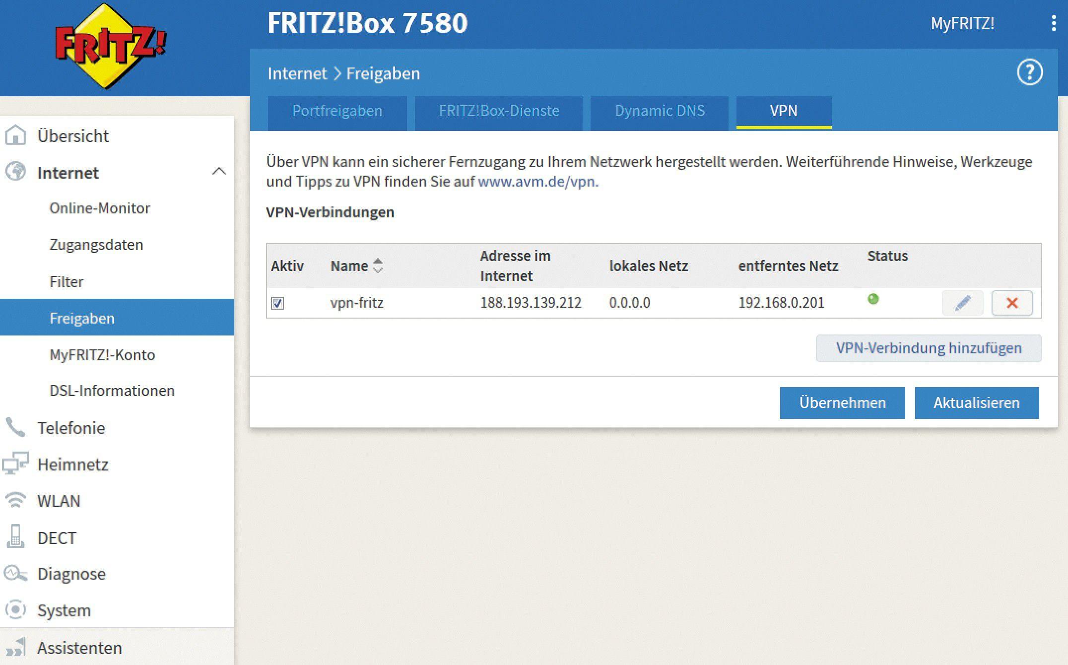 <b>Vpn</b> tunnel fritzbox <b>7430</b>
