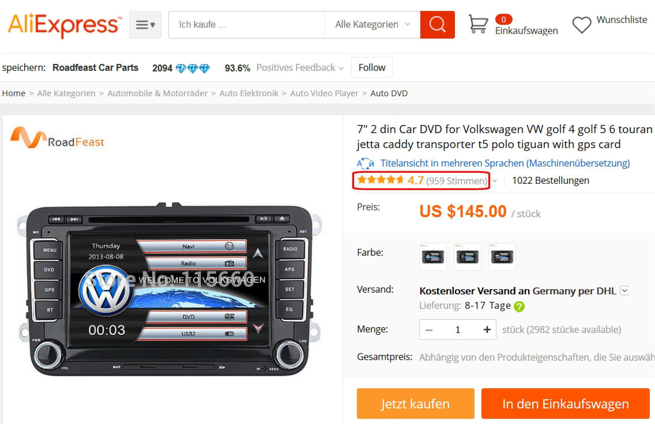 b1a2d56ede9289 Vergrößern Ein willkürliches Beispiel aus einem Asien-Shop  Für dieses  No-Name-Autoradio spricht nicht nur der günstige Preis  es gibt auch fast  1000 ...