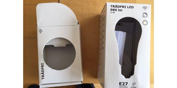 ikea smart lighting tr dfri dimmer set im test g nstiger philips hue rivale pc welt. Black Bedroom Furniture Sets. Home Design Ideas