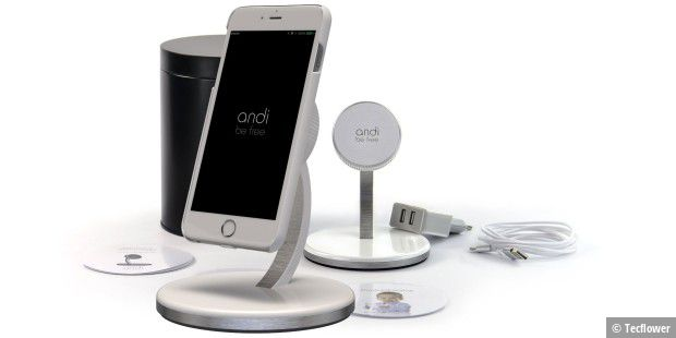 andi wireless charging schickes system f r das iphone pc welt. Black Bedroom Furniture Sets. Home Design Ideas