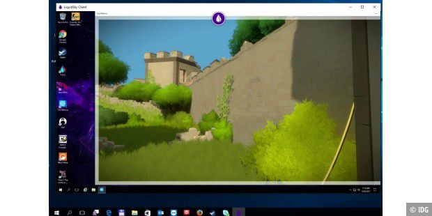 Im virtuellen Gaming-PC läuft gerade The Witness