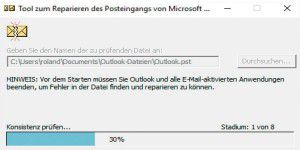 Defekte Outlook-Dateien mit Microsoft-Tool reparieren