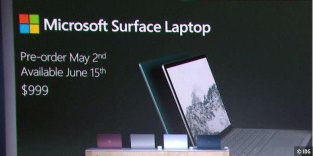 surface laptop im test schickes arbeits notebook mit einschr nkungen pc welt. Black Bedroom Furniture Sets. Home Design Ideas