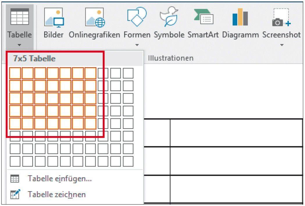 Excel tabellen in word einf gen und formatieren pc welt for Tabelle 2 spalten