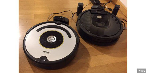 Links Roomba 620, rechts Roomba 980.