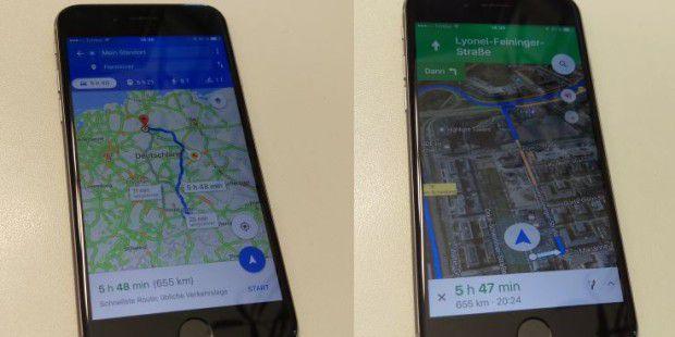 google maps im test gratis navigation mit exakten. Black Bedroom Furniture Sets. Home Design Ideas