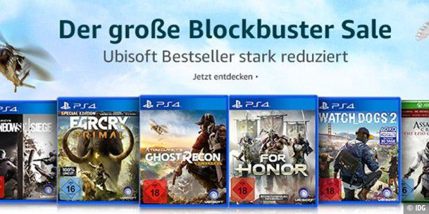 Amazon Ubisoft Blockbuster-Sale