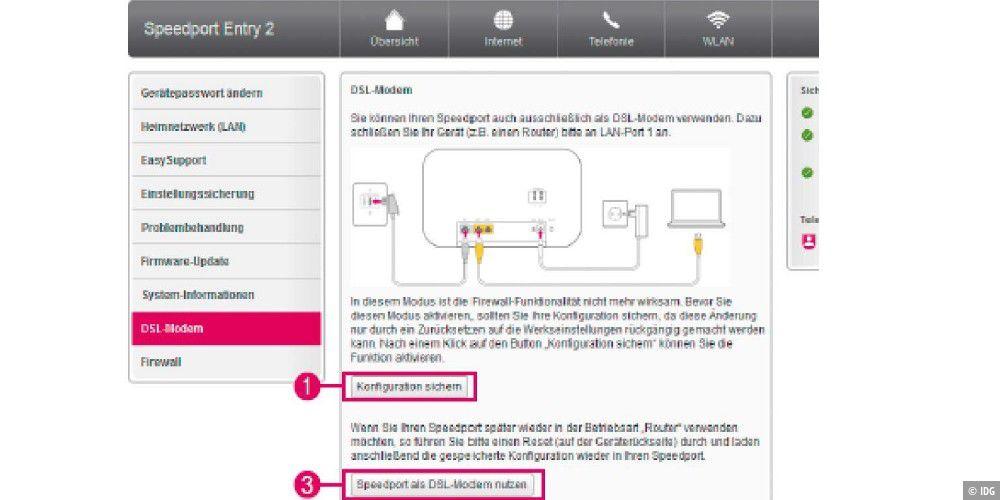 bridge modus beim speedport router aktivieren pc welt. Black Bedroom Furniture Sets. Home Design Ideas
