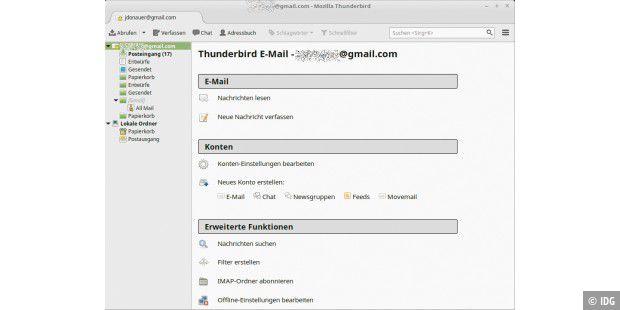 thunderbird konnte keine einstellungen für ihr email konto finden