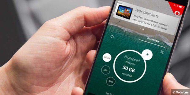 Vodafone GigaGarantie: Extra-Volumen bei Freischaltung und Störung Notiz
