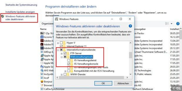 Windows-Bordmittel: FTP-Server in Windows aktivieren - PC-WELT