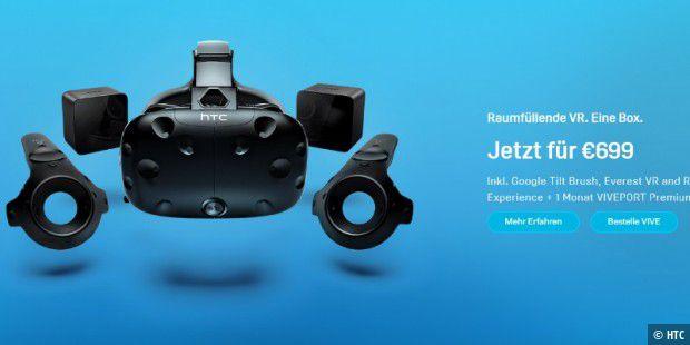 HTC Vive: Preis auf 699 Euro gesenkt