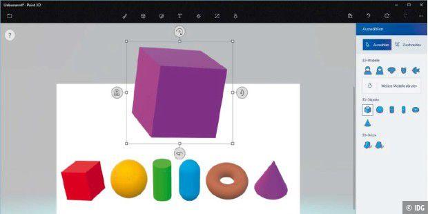 Paint 3d So Malen Sie In Drei Dimensionen Pc Welt