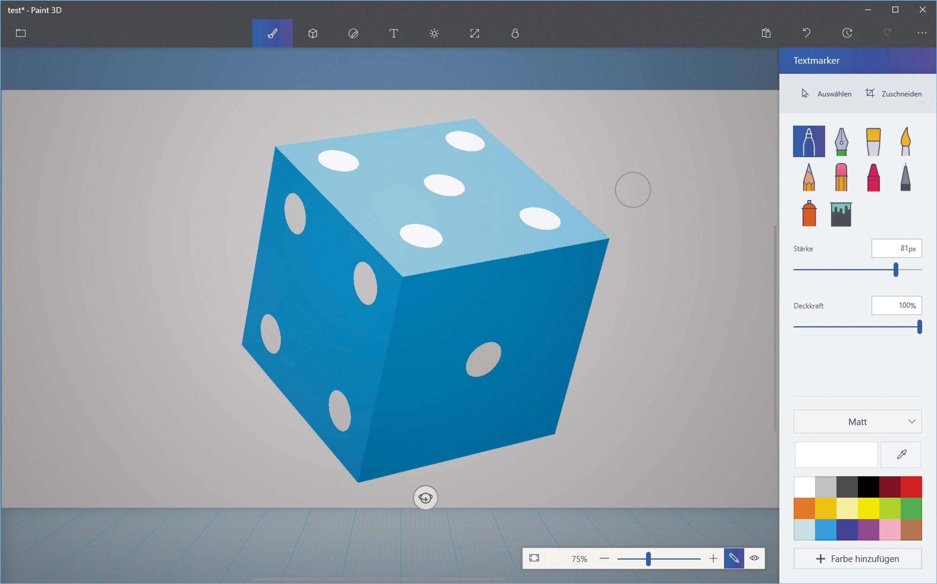 Wonderful Vergrößern Die Grafiktools Bieten Ihnen Jede Menge Flexibilität Bei Der  Farblichen Gestaltung Ihrer 3D Objekte. Der Würfel Wurde Mit Dem Werkzeug ?