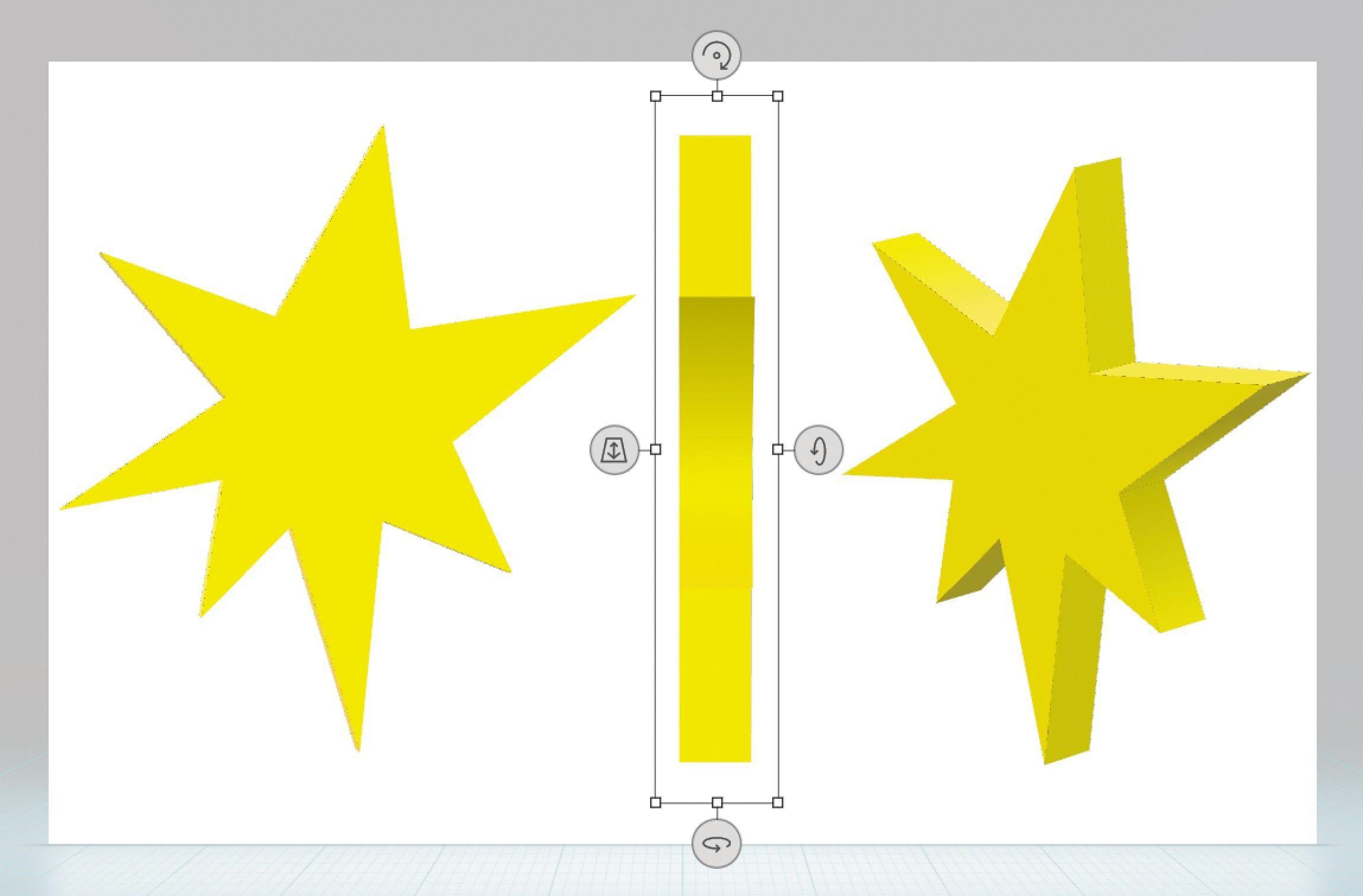 In Der Seitenansicht Verändern Sie Die Tiefe Des Objekts (Mitte). Mit Den  Pfeil Icons Am Bearbeitungsrahmen Positionieren Und Arrangieren Sie Ihr 3D Objekt  ...