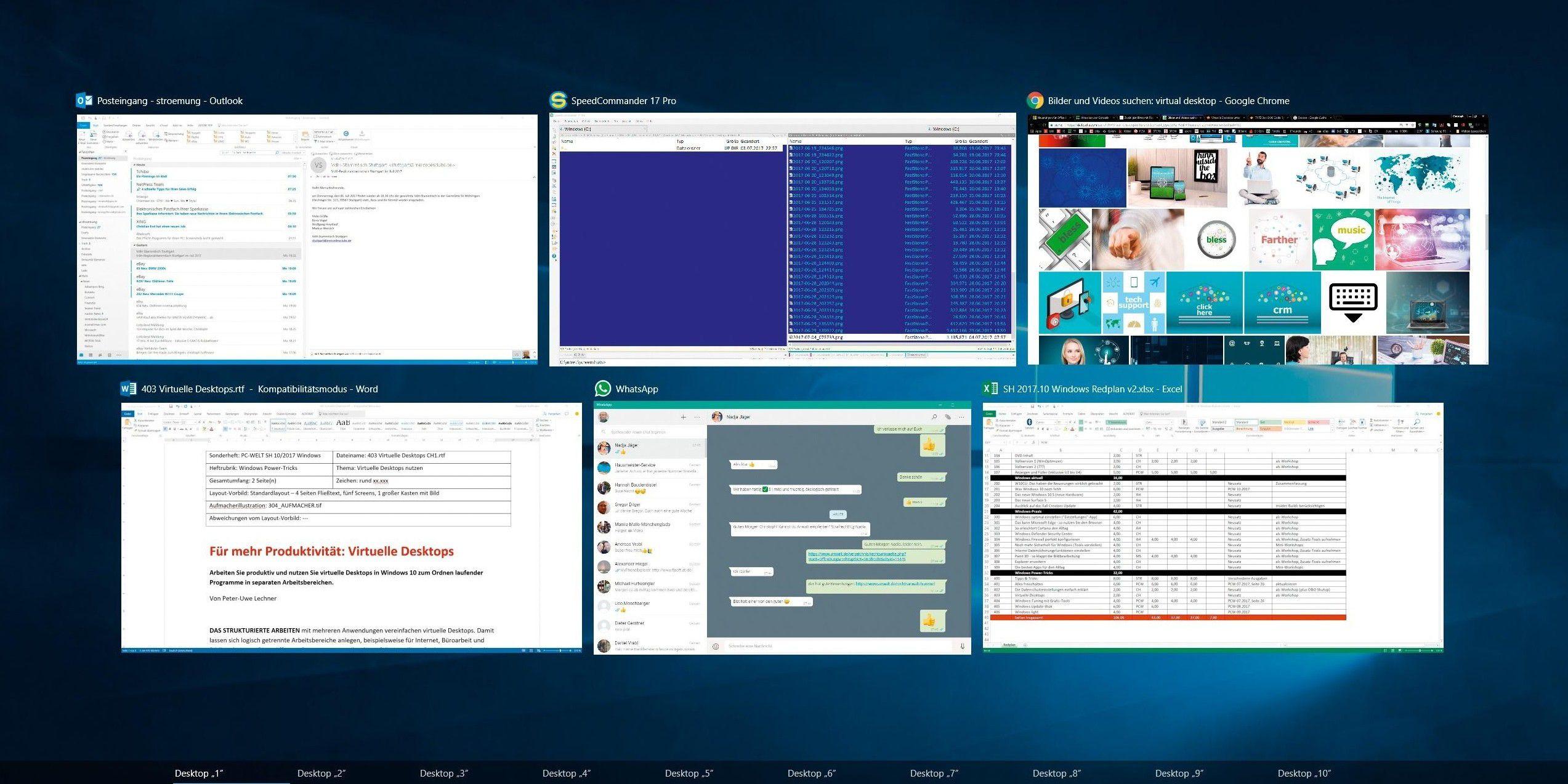 windows 10 virtuelle desktops mit task view pc welt. Black Bedroom Furniture Sets. Home Design Ideas