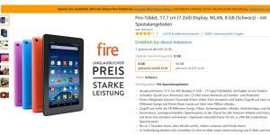 Amazon-Fire-Tablet mit 20 Prozent Rabatt