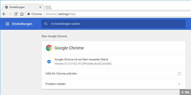 Die neue Chrome-Version 61