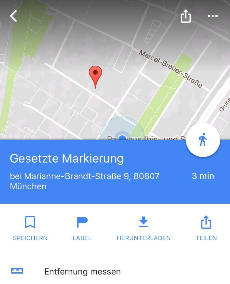 google maps f r ios und android entfernung messen pc welt. Black Bedroom Furniture Sets. Home Design Ideas