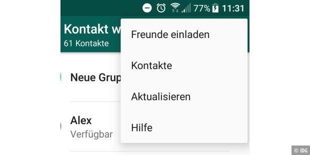 Kontakte lassen sich nicht löschen android