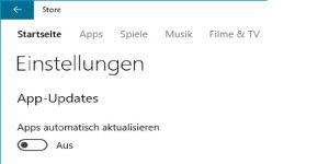 Windows 10 App-Updates abschalten