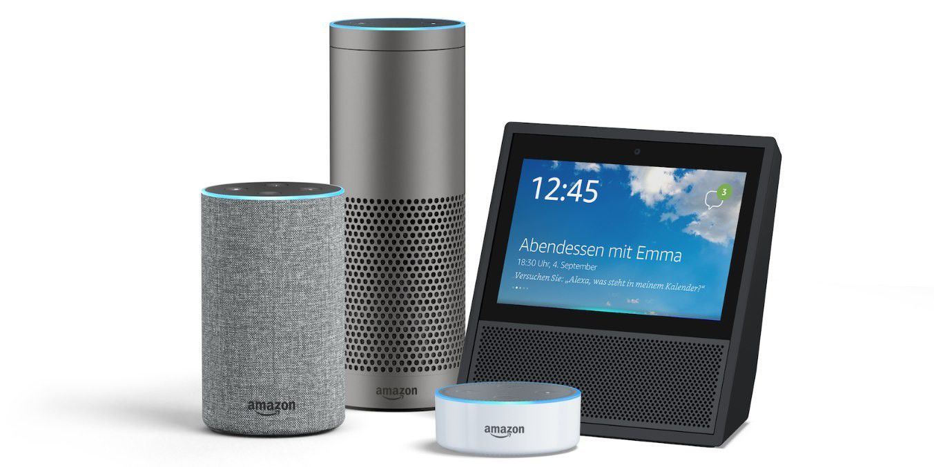 amazons alexa offensive neuer echo echo plus echo show. Black Bedroom Furniture Sets. Home Design Ideas