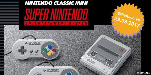 Nintendo verkauft Nintendo Classic Mini SNES ab 29.9.2017