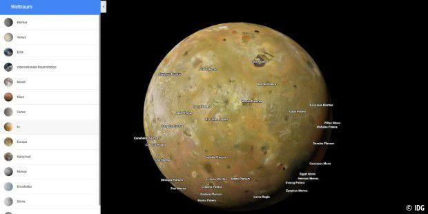 Google Maps Planeten