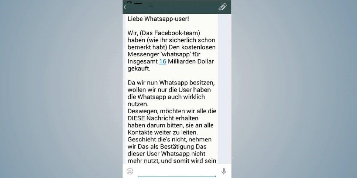 eb2aa7b8f6c4c Vergrößern Kettenbrief von unbekannten Nutzer sollten in der Whatsapp-Anwendung  blockieren.