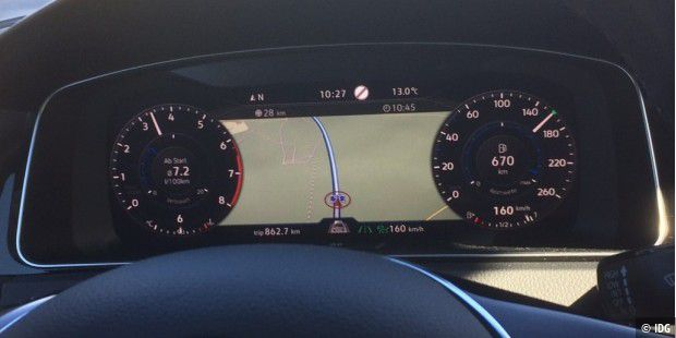 Active Info Display mit Navigationskarte