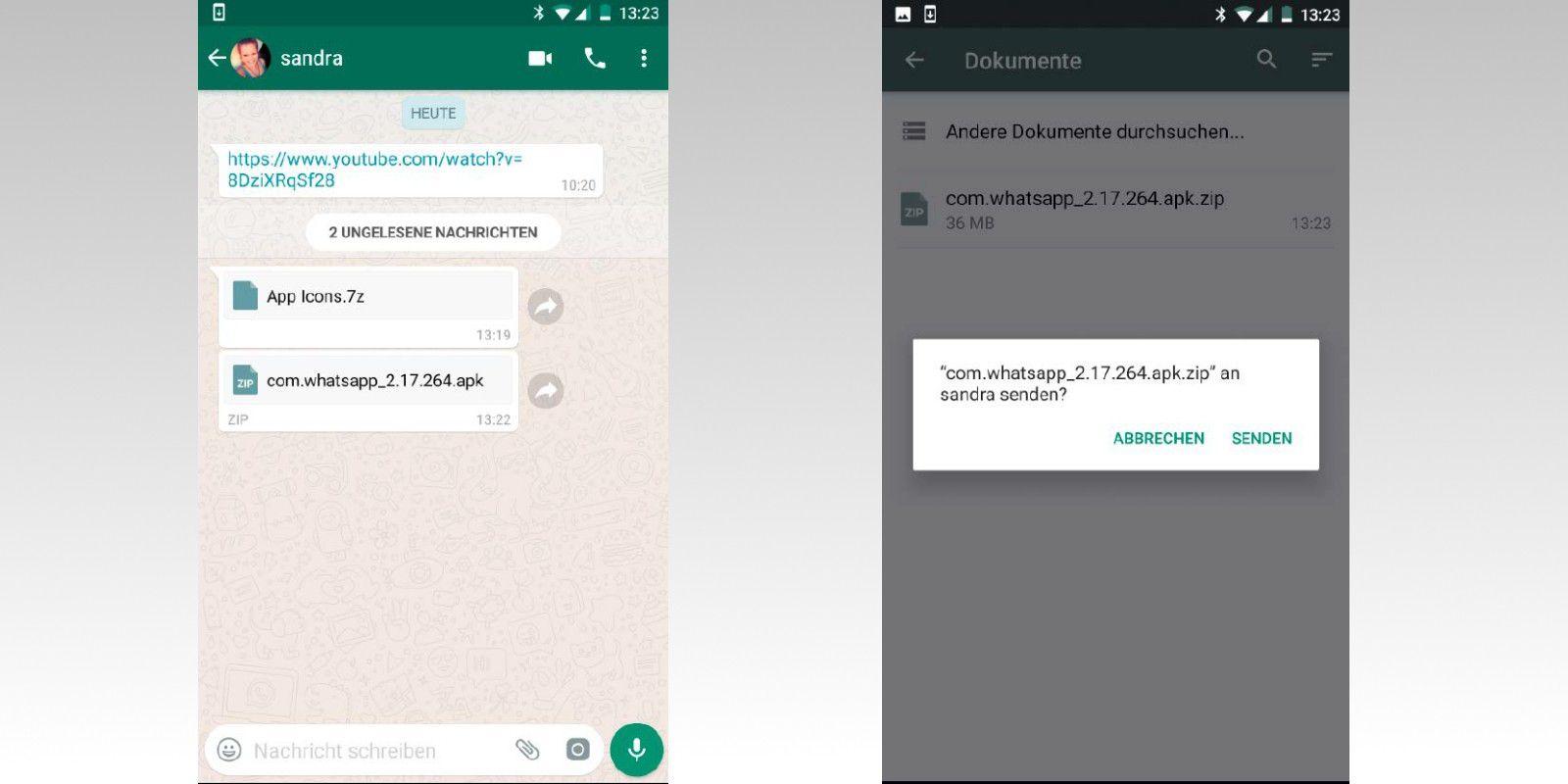 Zip- und APK-Dateien mit Whatsapp versenden - PC-WELT