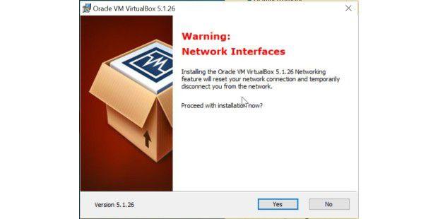 Bei Der Installation Von Virtualbox Wird Ihre Netzwerkverbindung Kurz  Unterbrochen.