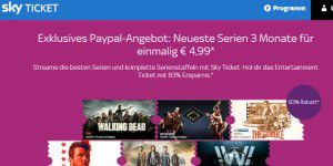 Für nur 4,99 Euro: 3 Monate Sky Ticket Entertainment