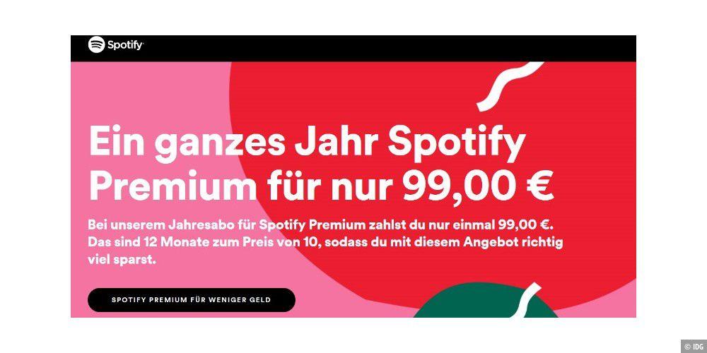 Spotify Premium Jahresabo
