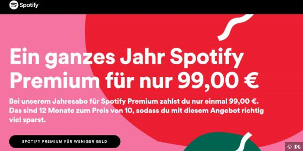 Spotify Karte Kaufen Schweiz.Spotify Premium 365 Tage Abo Zum Sparpreis Erhaltlich Pc Welt